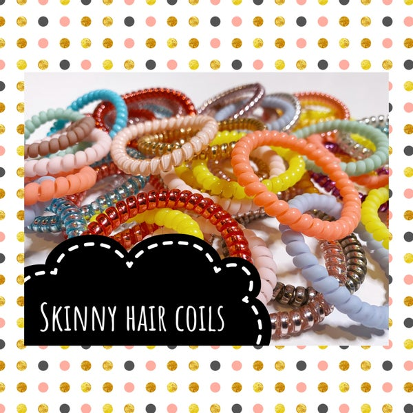 Skinny Hair Coils assorted pack of 8