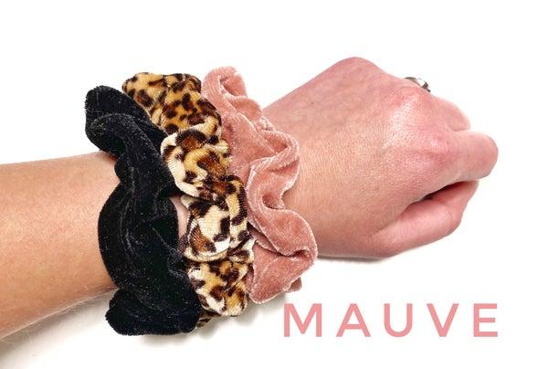 3 piece leopard Scrunchies set