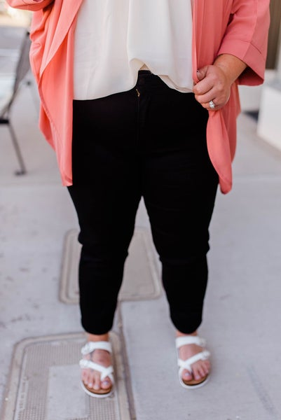 Plus size Black kan can jeans
