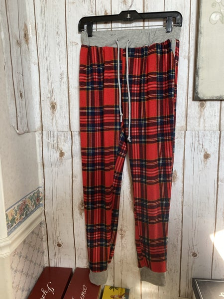 Red plaid joggers *Final Sale*