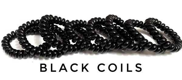 Regular black hair coils sets