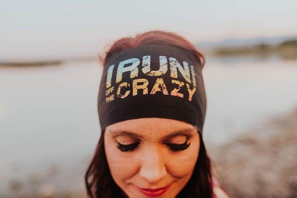 I run to burn off the crazy Exercise headband