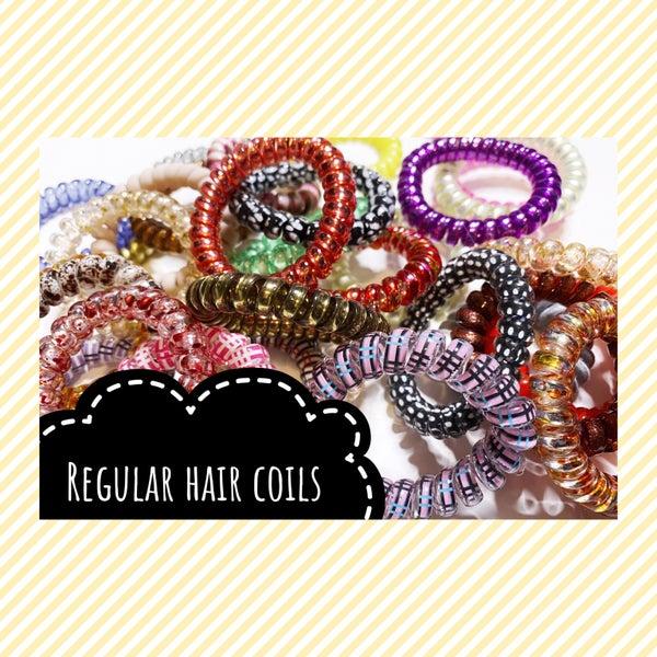 Hair Coils regular, assorted set of 8