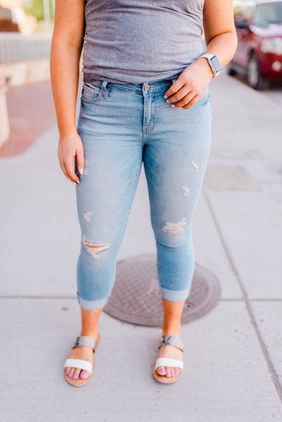 Capri kan can jeans