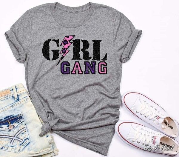 Girl Gang graphic tee shirt