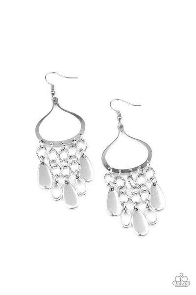 Paparazzi Earring ~ Lure Away - Silver