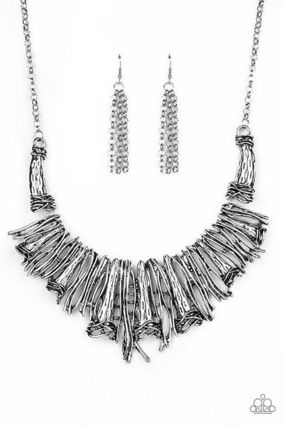 Paparazzi Necklace ~ In The MANE-stream - Silver