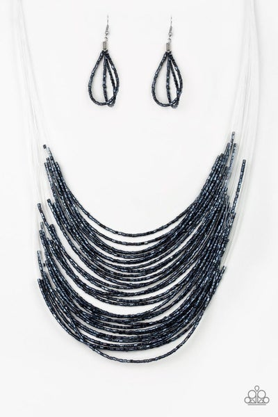 Paparazzi Necklace ~ Catwalk Queen - Blue