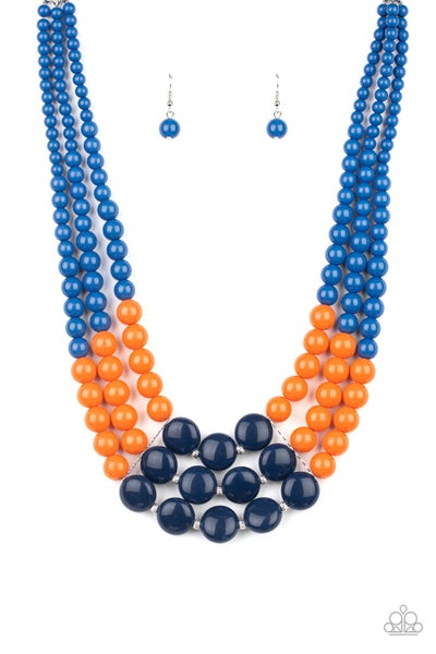 Paparazzi Necklace ~ Beach Bauble - Blue
