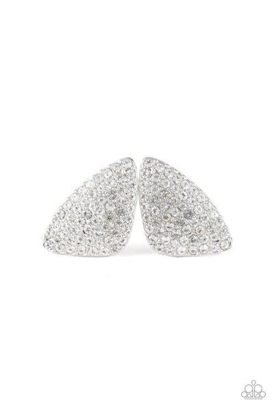 Paparazzi Earring ~ Supreme Sheen - White