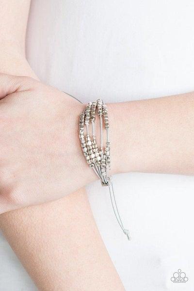 Paparazzi Bracelet ~ Modern Minimalism - Silver