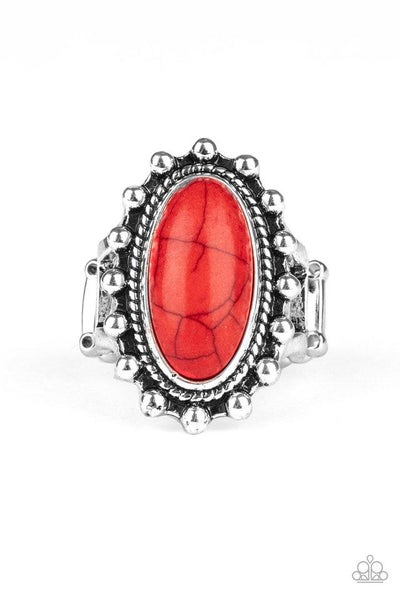Paparazzi Ring ~ Mineral Movement - Red