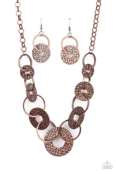 Paparazzi Necklace ~ Industrial Envy - Copper
