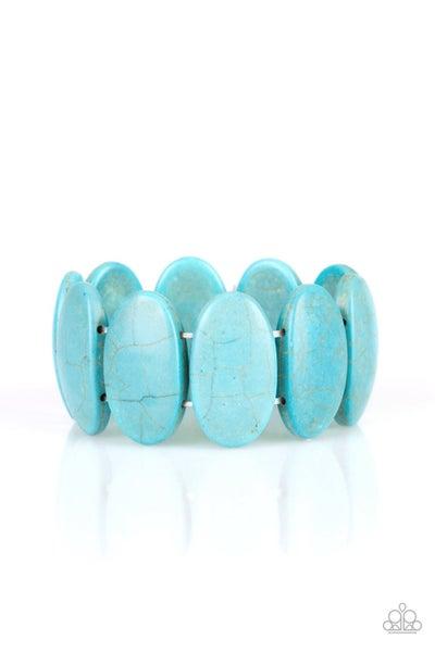 Paparazzi Bracelet ~ Dramatically Nomadic - Blue