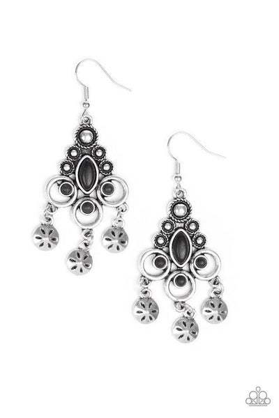 Paparazzi Earring ~ Southern Expressions - Black