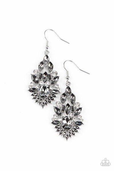 Paparazzi Earring ~ Ice Castle Couture - Silver