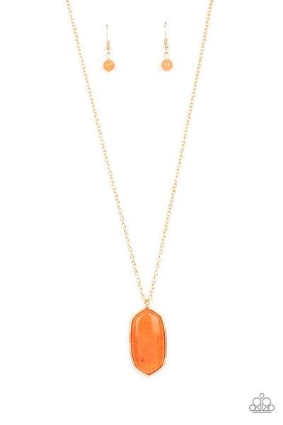 Paparazzi Necklace PREORDER ~ Elemental Elegance - Orange
