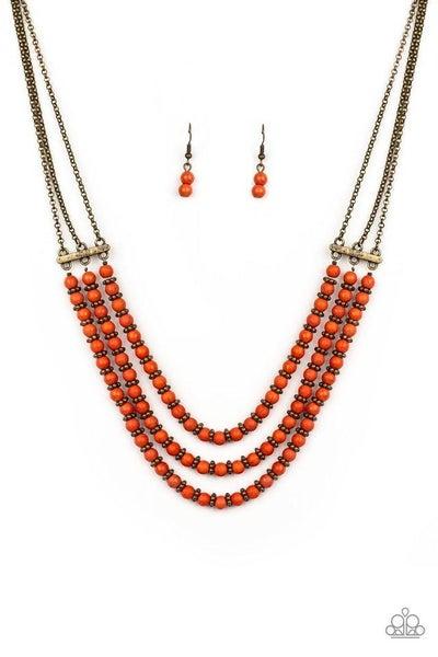 Paparazzi Necklace ~ Terra Trails - Orange