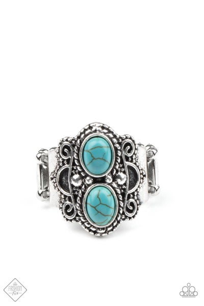 Paparazzi Ring Fashion Fix Feb 2021 ~ Eco Essence - Blue
