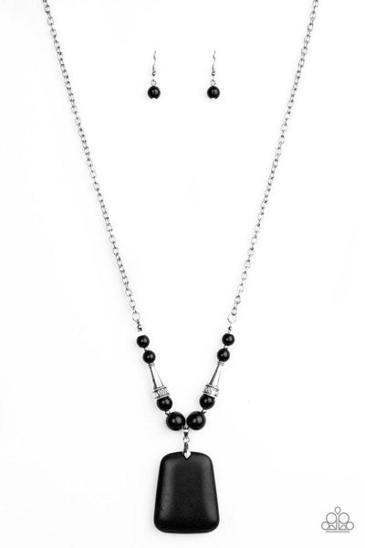 Paparazzi Necklace ~ Sandstone Oasis - Black
