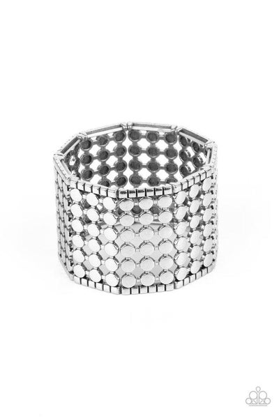 Paparazzi Bracelet ~ Cool and CONNECTED - Silver