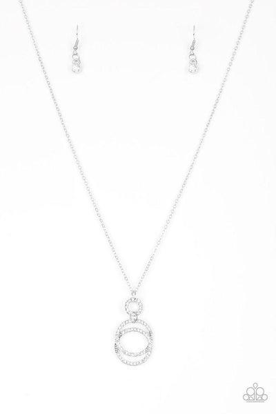 Paparazzi Necklace ~ Timeless Trio - White