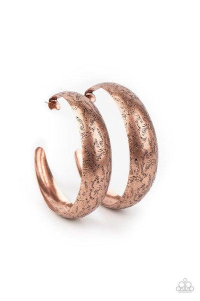 Paparazzi Earring ~ Sahara Sandstorm - Copper