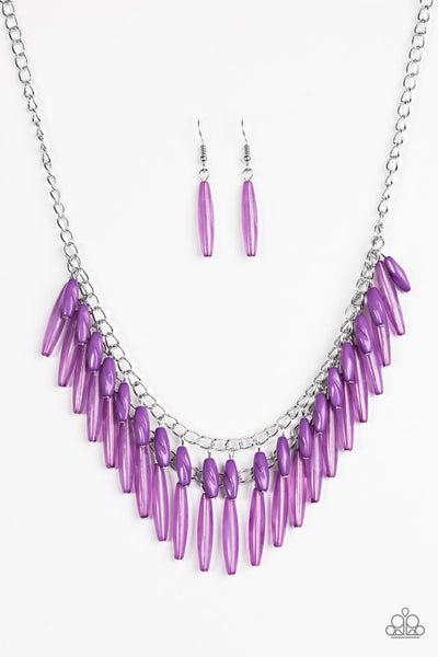 Paparazzi Necklace - Speak Of The DIVA - Purple