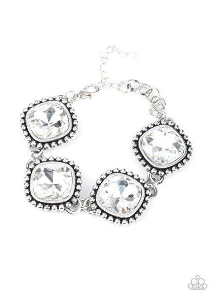 Paparazzi Bracelet ~ Megawatt - White