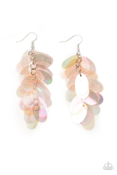 Paparazzi Earring ~ Stellar In Sequins - Pink