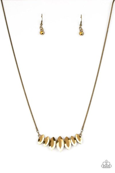 Paparazzi Necklace ~ Leading Lady - Brass