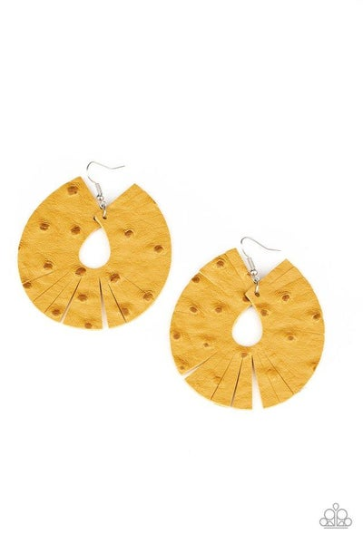 Paparazzi Earring ~ Palm Islands - Yellow