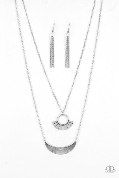 Paparazzi Necklace ~ Tribal Trek - Silver