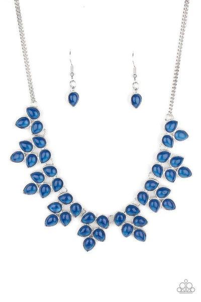 Paparazzi Necklace ~ Hidden Eden - Blue