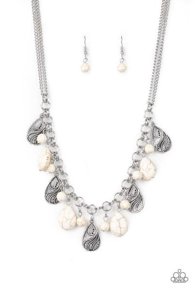 Paparazzi Necklace ~ Terra Tranquility - White