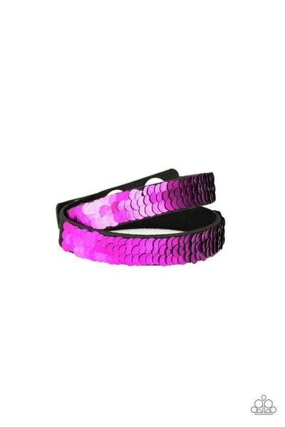 Paparazzi Bracelet ~ Under The SEQUINS - Purple