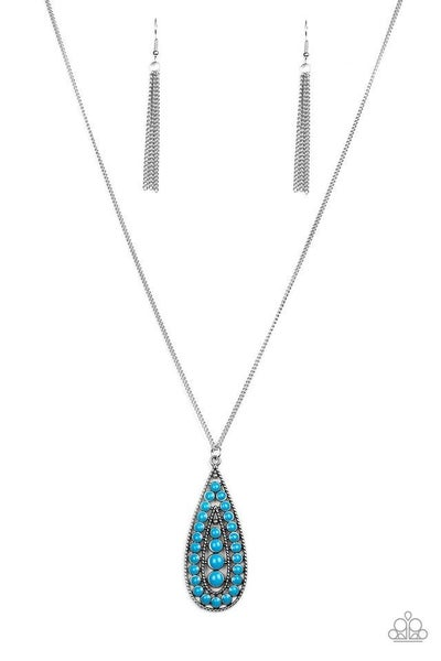 Paparazzi Necklace ~ Tiki Tease - Blue