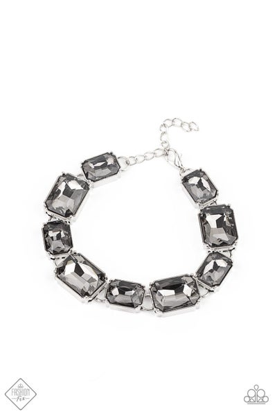 Paparazzi Bracelet Fashion Fix Jan 2021 ~ After Hours - Silver