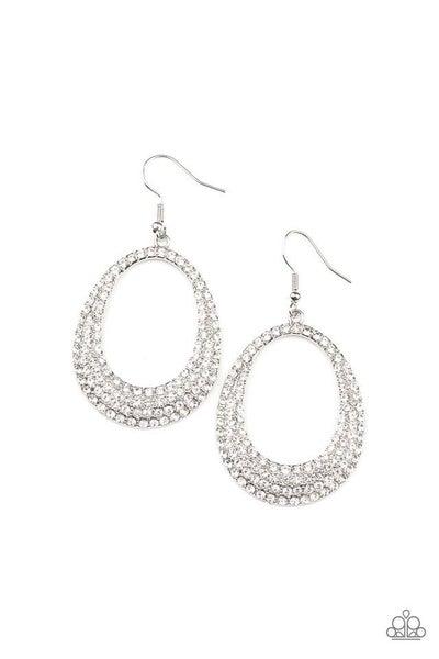 Paparazzi Earring ~ Life GLOWS On - White