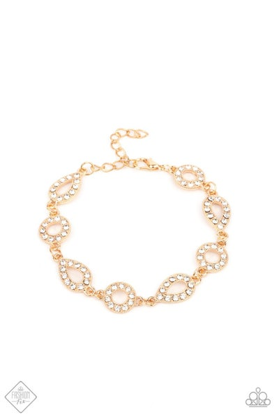 Paparazzi Bracelet Fashion Fix April 2021 ~ Royally Refined - Gold