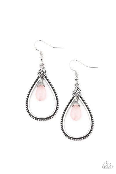 Paparazzi Earring ~ Ill Believe It ZEN I See It - Pink