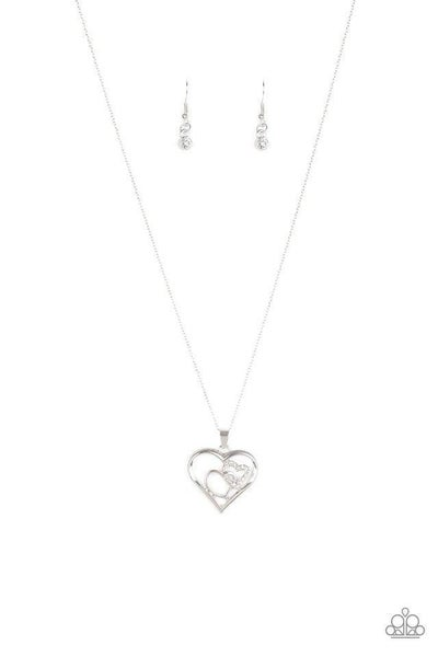 Paparazzi Necklace ~ Cupid Charm - White
