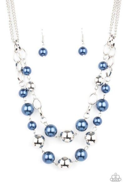 Paparazzi Necklace ~ COUNTESS Your Blessings - Blue