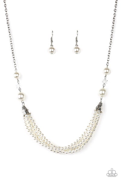 Paparazzi Necklace EMP Exclusive ~ One-WOMAN Show - White