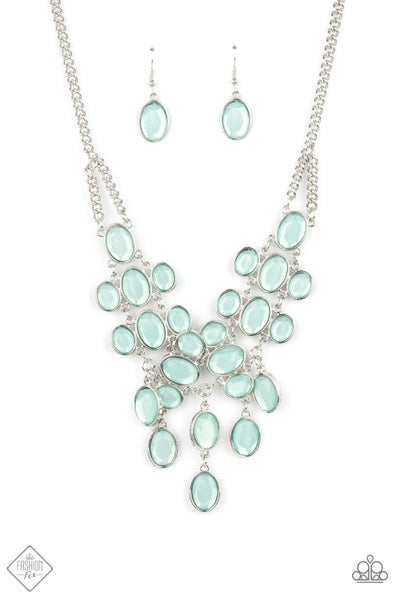 Paparazzi Necklace Fashion Fix May 2021 ~ Serene Gleam - Blue