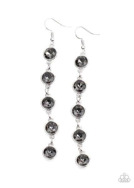 Paparazzi Earring ~ Trickle Down Twinkle - Silver