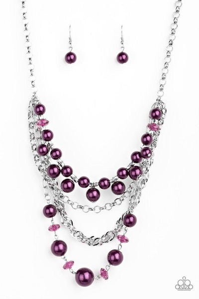 Paparazzi Necklace ~ Rockin Rockette - Purple