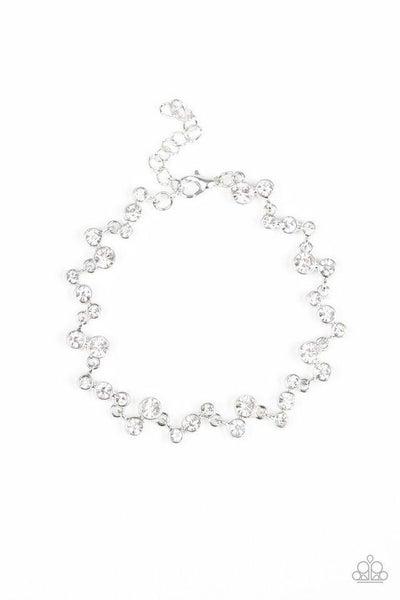 Paparazzi Bracelet ~ Starlit Stunner - White
