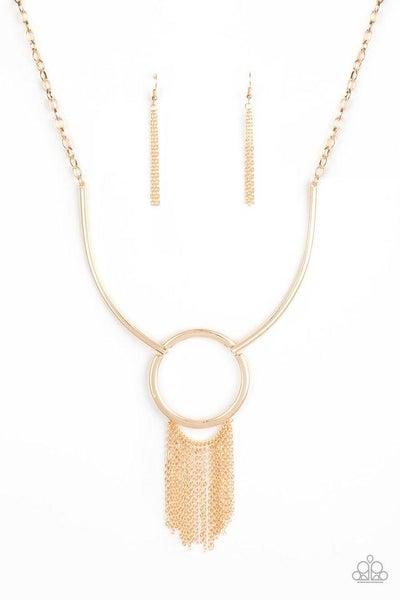 Paparazzi Necklace ~ Pharaoh Paradise - Gold