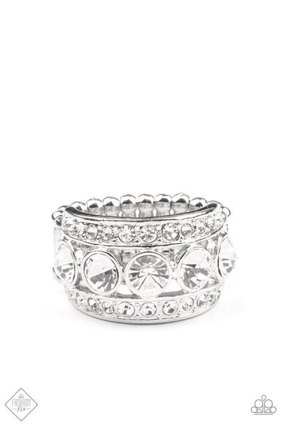 Paparazzi Ring Fashion Fix Feb 2021 ~ Princess Pedigree - White